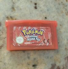 pokemon gba France : version rouge feu