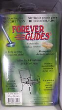 """24 - Forever Glides for Wrought Iron Patio Furniture 1-1/2"""" Black"""