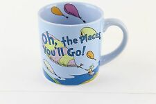 Dr Seus Oh The Places You'll Go Ceramic Coffee Cup Mug 12 OZ Growth Grad Gift