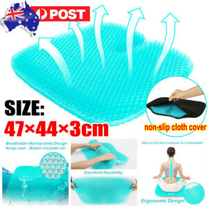 Double Gel Honeycomb Seat Comfort Cushion Flex Back Support Spine Protector +Bag