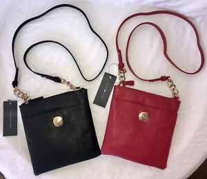 NEW TOMMY HILFIGER CROSSBODY HANDBAG, RED AND BLACK COLOR AVAILABLE, MSRP $88.00