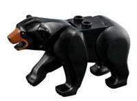Lego Black Bear with 2 Studs on Back, Medium Dark Flesh Muzzle Figure Minifigure