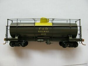 Ho Brass Logging Tank Car by NWSL  Painted C&D Railway #1001