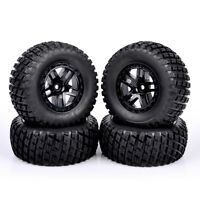 1 Set Short Course Rubber Tire Wheel For TRAXXAS SLASH HPI RC 1:10Truck 12mm Hex