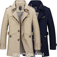 Fashion Men's Winter Slim Vogue Trench Coat Long Jacket Overcoat Outwear
