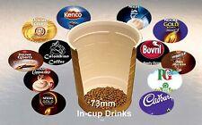half case 73mm incup vending drinks in cup machines Klix Darenth coffee tea choc