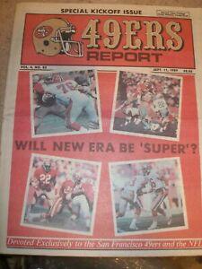 September 1989 V#4 #25 San Francisco 49ers Report - Montana Craig Lott Wright