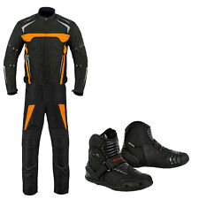 Motorbike Motorcycle Clothing Suit Jacket Trouser & Shoes Black Friday Offer