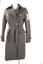 Piu & Piu Mantel 38 (D) 44 (It) braun Militärlook Baumwolle wie Trenchcoat top