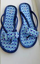 Kids's Colors Of California Jelly Flip Flops Sandals - Size Uk 3 EU 36 - Blue