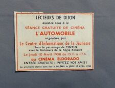 PUB PUBLICITE ANCIENNE ADVERT CLIPPING 031017 / SEANCE GRATUITE DE CINEMA L AUTO