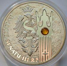 Poland, 20 Zlotych 2004, 15th Anniversary of Polish Senate, Amber, Silver coin
