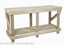 6FT / 1.8M LONG PREMIUM WORKBENCH  & PRESSED WOODEN TOP- HEAVY DUTY STRONG
