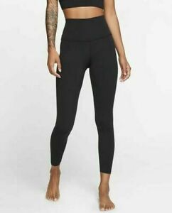 Nike Yoga Luxe Women's Infinalon 7/8 leggings Black High Rise RRP £64.99 Medium