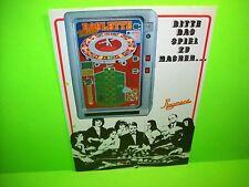 Playmont MULTI ROULETTE Original Slot Machine Promo Sales Flyer German Text Rare