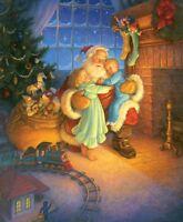Puzzle 1.000 Teile - Gustafson: Umarmung für den Weihnachtsmann von SunsOut