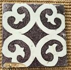 ANTIQUE 18C DUTCH DELFT MANGANESE TILE FEATURING ABSTRACT SPIDER MOTIF