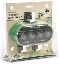 More details for twin outlet electric automatic electronic garden watering timer clock