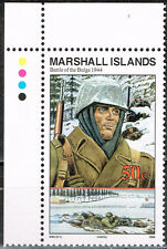 Marshall Islands WW2 in 1944 Battle of the Bulge Infantry MNH stamp