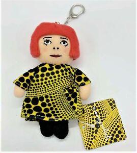 YAYOI KUSAMA 'Yayoi' Artist Plush Doll Handbag Charm, Phone Strap, Keychain NWT!