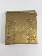 VINTAGE VOLUPTE' COMPACT WITH CARRYING HANDLE GOLD EMPTY