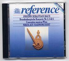 Bach CD Brandenburgische Konzerte 2 5 6 Harnoncourt Wien Teldec 1987