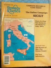 STRATEGY & TACTICS 146-The ITALIAN CAMPAIGN SICILY WW2 Game-New/UNPUNCHED