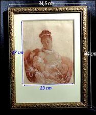 Portrait d'une Femme Dénudée par Charles Delin 1877 Sanguine & Rehauts de Craie