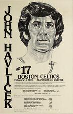 John Havlicek MEGA RARE 2/14/1978 Boston Celtics at Golden State Warriors Poster