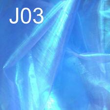 (Jxx) Shiny Fancy Mirror Organza Reflex Lime Light Decor Curtain Fabric Materia