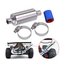 1/5 RC Car Gas Metal Muffler Pipe Silencer kit For HPI BAJA 5B SS ROVAN Silver