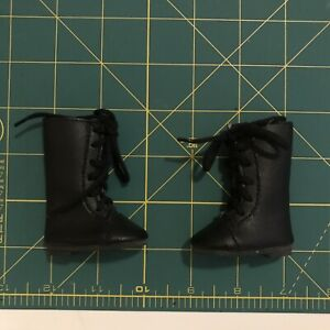 """Black Lace Up Boots Shoes for 13"""" Dianna Effner Little Darling Doll"""