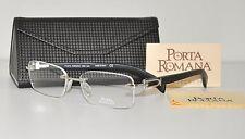 Porta Romana Black Wood White Gold Rimless Eyeglasses 1956 600 Rx Glasses 58 NEW