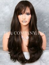 Heat Resistant Flat Iron SAFE Long Wavy Wig WBKT 4-27 Brown Strawberry Mix