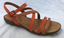 c97a32d506e99 Ladies Clarks Slingback Buckle Sandals Autumn Peace Orange Leather UK 5.5 D