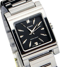 Casio Ltp-1237d-1a2 Ladies Black Analog Stainless Steel Casual Dress Watch