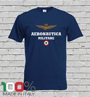 T Shirt Uomo  Aeronautica militare logo Italia Frecce Tricolori replica italia