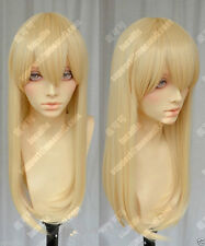 New Women Long Blonde Straight Hair Cosplay Attack on Titan Krista Lenz Full Wig