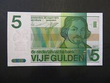 Niederlande:  5 Gulden-Banknote, gebraucht aus Umlauf (used), XF, 1973