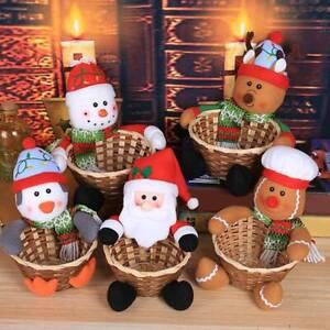 Santa Claus Basket Xmas Gift Candy Storage Basket Home Party Decoration UK