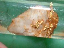 GOLD QUARTZ SPECIMEN GOLD IN QUARTZ NATURAL GOLD NUGGET 2.4 GRAM PRECIOUS METAL