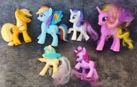 "6 G4 My Little Pony MLP Brushable 3"" Inch Rare Horse Bundle Lot 2011 2010 Ponies"