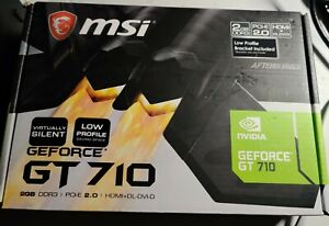 MSI NVIDIA GeForce GT 710 2GB GDDR3 Graphics Card (GT 710 2GD3H LP)