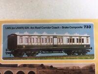 Ratio 733 LMS Ex LNWR 50Ft Arc Roof Corridor Brake Comp Plastic Kit 00 Gauge T48