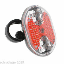 Schrödinger10023  5 LED Bicycle Cycling Bike Cycle Tail Rear Light Flashing Red