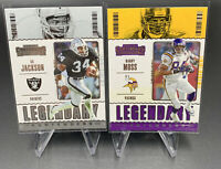 2020 Panini NFL Contenders - Randy Moss And Bo Jackson LEGENDARY CONTENDERS Lot