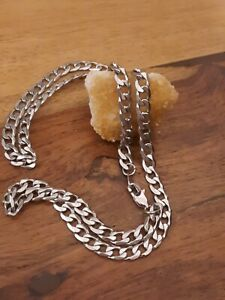 bnib Chainspro curb link 5mm wide by 2 mm thick stainless steel necklace 24 cm