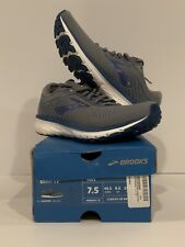 Brooks Men's Ghost 12 Running Shoes Grey/Alloy/Blue Size 7.5 M