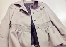 Authentic BURBERRY Woman White Peacoat 85% Cashmere 15% Wool Blend size 42