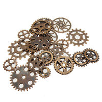 35 pcs Copper Red Color Metal Gears Mixed Kinds Steampunk Cogs Pendants Charms